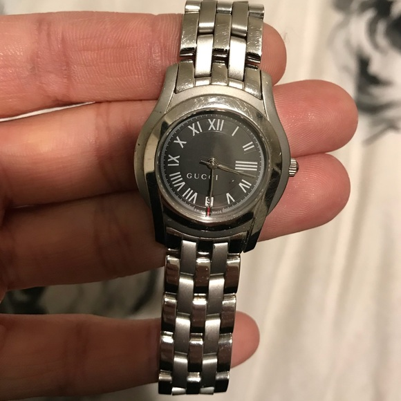 Gucci Ladies Roman Numeral Stainless Steel Watch